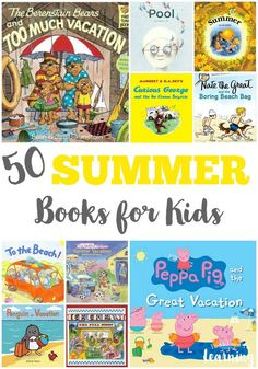 Get set for summer reading with these 50 summer books for kids!