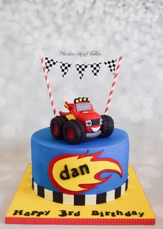 Blaze and the Monster Machines - Cake by Wooden Heart Cakes