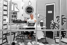 A SURREAL MONOCHROMATIC POP-UP WORKSPACE AT WIEDEN+KENNEDY via @Design Milk