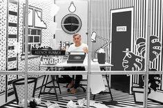 A SURREAL MONOCHROMATIC POP-UP WORKSPACE AT WIEDEN+KENNEDY via @Design Milk