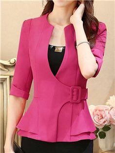 Cheap Fashion Blazers for Women Online Shopping Street Hijab Fashion, Fashion Pants, Fashion Outfits, Suits For Women, Blazers For Women, Clothes For Women, Hijab Stile, Casual Blazer Women, Stylish Work Outfits