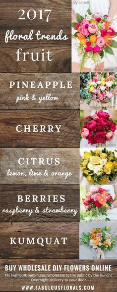 Wedding Bouquet Trends! Fruit! DIY Fruit Bouquet Trends! Wedding Trends 2018 ! How To DIY Wedding Flowers! 2018 Wedding Flower Trends. Easy DIY Tutorials and How to Tips & Tricks! #fruit #diyflowers #howtomakeabouquet www.howtodiyweddingflowers.com