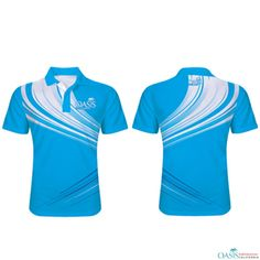 Blue and White Sublimation  Sports  Polo Shirt Sports Polo Shirts 06ba1eb31c