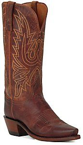 Lucchese® 1883 Ladies Peanut Mad Dog Snip Toe Western Boots