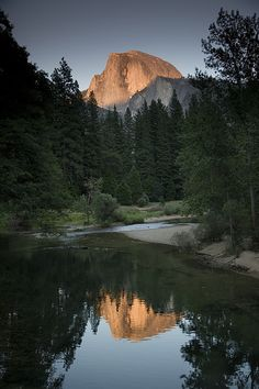 The Sunset on Halfdome, Yosemite, California