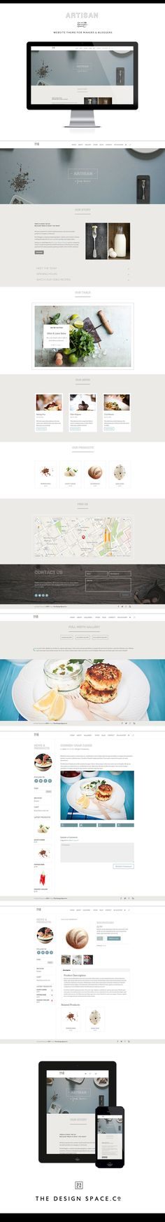 Artisan Website Theme for Crafters, Foodies & Bloggers. Website design, ProPhoto, food blog, crafting website, WordPress theme