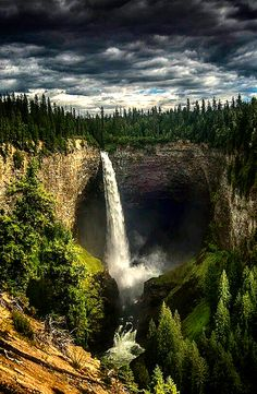 Helmcken falls British Columbia Canada