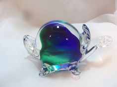Murano Style Glass Turtle Paperweight