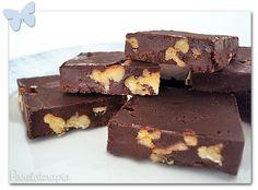 Fudge de Chocolate, Doce de Leite e Pecã ~ PANELATERAPIA - Blog de Culinária, Gastronomia e Receitas