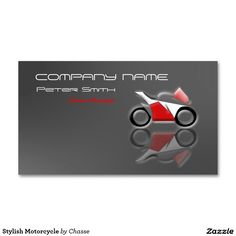 Stylish Motorcycle Double-Sided Standard Business Cards (Pack Of 100)