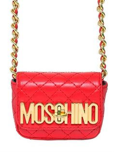 Moschino Quilted Nappa Leather Micro Shoulder Bag on shopstyle.com