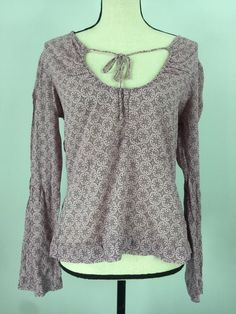American Eagle Outfitters Women's Light Pink Paisley Top Size Medium | eBay