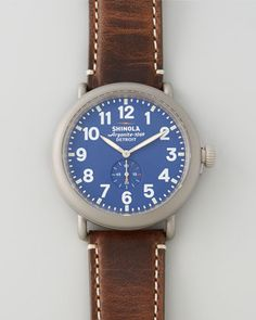 47mm Runwell Men\'s Watch, Blue by Shinola at Neiman Marcus.