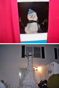 creepy snowman...I would die.
