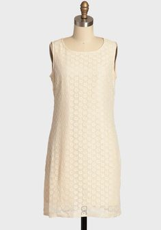 Twilight Hush Lace Dress In Cream By Tulle 59.99 at shopruche.com. A classic shift silhouette lends vintage-inspired romance to this cream lace dress by Tulle. Crafted in a breezy cotton blend, the style  is completed with hidden side pockets, back button closures, and a  hidden side zipper. Fully...
