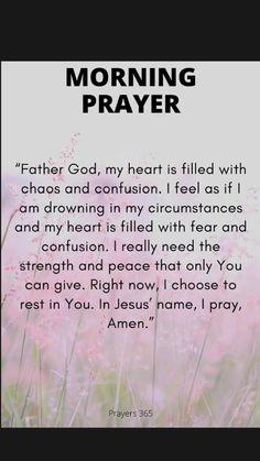 Morning Prayer Quotes, Good Morning Prayer, Morning Inspirational Quotes, Inspirational Prayers, Morning Prayers, Good Prayers, Prayers For Strength, Prayers For Healing, Bible Prayers