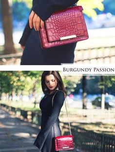 This beautiful fashion blogger combines gracefully the elegance of her outfit with the splendor of the refined Burgundy shade. Amazing days start indeed with the stunning feminine look that is complemented by your precious luxury accessories.
