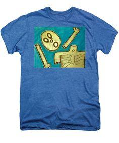 Figures Men's Premium T-Shirt featuring the drawing The Hollow Men 88 - Falling Apart by Mario Perron #Artist @ 1-mario-perron.pixels.com  #clothing #art #style