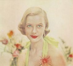 Summer hairstyles: The Semi-long, Ladies Home Journal, June 1954.