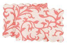 "Quilted 14"" x 51"" Runner, Serendipity Coral by C $29.69. Save 33% Off!"