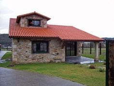 Village House Design, Duplex House Design, Village Houses, Small House Design, House On The Rock, House In The Woods, My House, Stone Cottages, Stone Houses