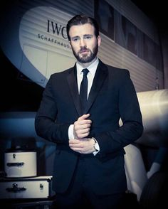 Chris Evans at IWC's Pilot's Watches Novelties launch at the Salon International…