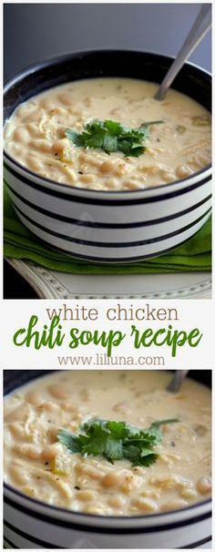 Delicious White Chicken Chili Recipe - one of the heartiest soup recipes ever…