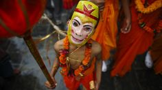 In this picture, a boy immitates as one of the Hindu deity Hanuman(Monkey God). A festival in which an honour is extended to the departed souls by the family and relatives for their souls to rest in peace. The more of Gaijatra can be seen here but should be truly experienced once in a life time. #itreknepal