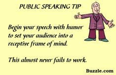 Public Speaking Tip - Calm down those jitters before you face an audience the next time.