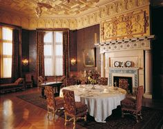 My favorite room in Biltmore-The Breakfast Room. The walls are completely covered in embossed leather.