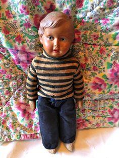 Vintage celluloid doll boy doll european by LittleBeachDesigns