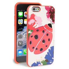 Kate Spade Ladybug iPhone 6 Case NWT brand new in box! A beautiful ladybug amongst a flourish of spring blooms pretties up a resin case designed to shield your tech from scuffs and scratches. Fits iPhone 6. Resin. kate spade Accessories Phone Cases