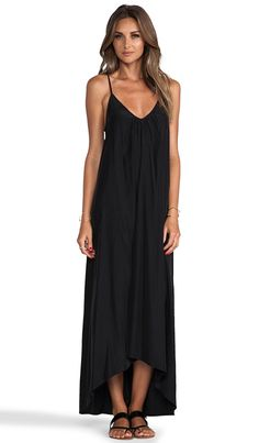 Pink Stitch Resort Maxi Dress in Black | REVOLVE