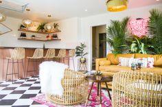Spotlight On: The June Motel — Escape Toronto Art Deco Wallpaper, Flamingo Decor, Prince Edward, Outdoor Furniture Sets, Outdoor Decor, Spotlights, Tropical Paradise, Motel, Ontario