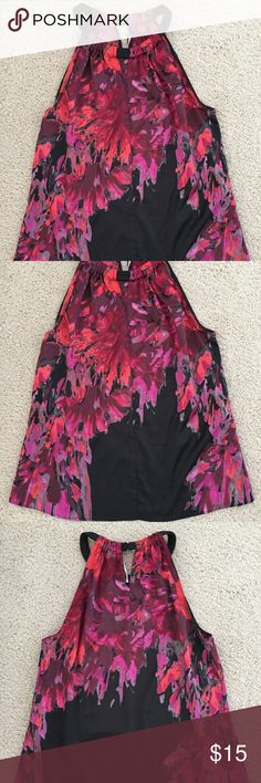 T Tahari Tops T Tahari Tops, Blouse with Classic necklace - Flower Print - Size M - New without tags Theme: Flower Color: Multi-Color Occasion:Evening/Occasion/Casual Material: 95%Polyester/5%Elastane Neckline: Classic necklace Sleeve Style:Sleeveless Country/Region of Manufacture: China T Tahari Tops Blouses