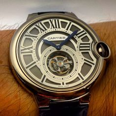 The @cartier Ballon Bleu Flying #Tourbillon as seen at the boutique in Rome.  by equationdutemps