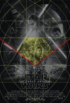 Análise Gráfica: Pôster Star Wars: The Force Awakens   #starwars #grid #poster #design #goldenratio