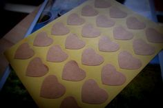 48 Vintage Heart Stickers  Kraft Labels by ForSpecialOccasions