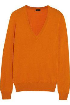 JOSEPH Orange Sweater - Add a cashmere knit to sales wishlists for instant new season luxury