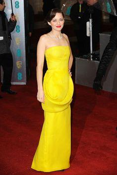 Premios Bafta 2013 - Marion Cotillard en haute couture de dior