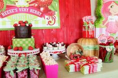 Strawberry Shortcake party - so cute!
