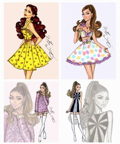 Hayden Williams Fashion Illustrations: Happy Birthday Ariana Grande