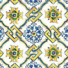 Majolica is the freshest and most summery pattern we can think of. #DGLightblue