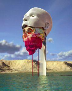 Different Kinds Of Art, Bizarre Art, 3d Drawings, Visionary Art, Surreal Art, Wire Art, Creative Art, Art Inspo, Sculpture Art
