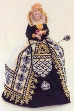Sara ~ A Deruta Renaissance Pincushion Doll from Giulia Punti Antichi / GPA