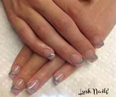 Pink/Silver by Twinabobina from Nail Art Gallery
