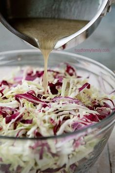 Tangy Vinegar Coleslaw Recipe via @Shaina Olmanson | Food for My Family