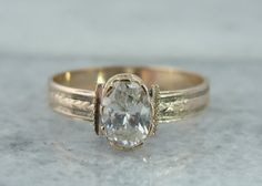 Antique Victorian Rose Gold Solitaire Engagement by MSJewelers, $1465.00
