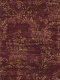Would love this on my walls in my bedroom if it were plum with damask instead of burgundy