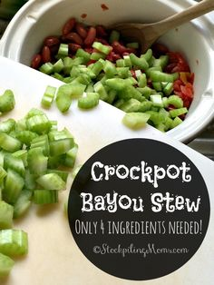 This slow cooker recipe for Crockpot Bayou Stew only has 4 ingredients and tastes delicious! Such a healthy seafood crockpot freezer meal.